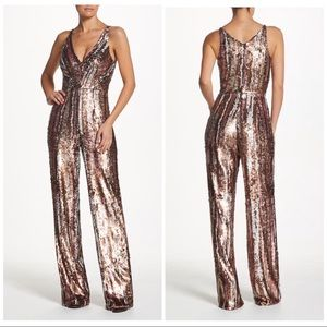 Dress The Population Brushstroke Sequin Jumpsuit